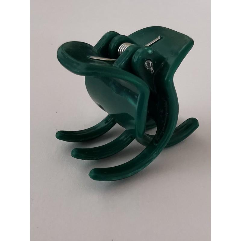 Hårklemme med silikone, grøn 2,3 cm