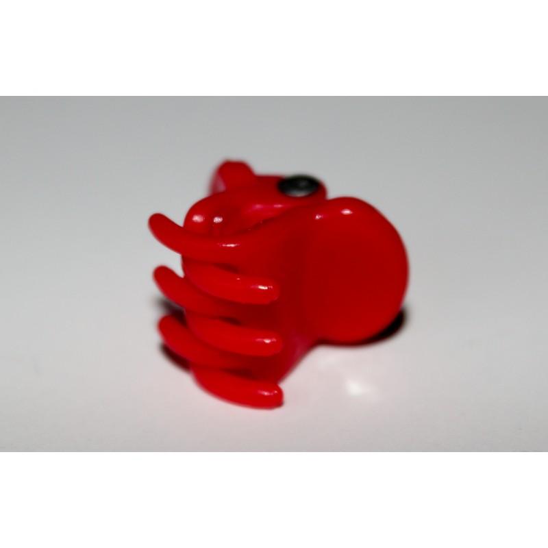 Hårklemme med silikone, rød 1,5 cm