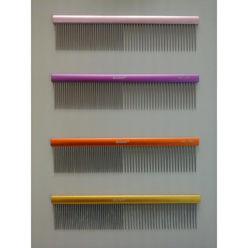 Madan Shiny Grooming comb, Matted Orange, 190mm