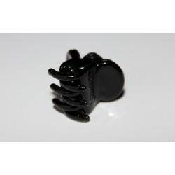 Hårklemme med silikone, sort 1,5 cm