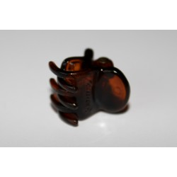 Hårklemme med silikone, brun 1,5 cm