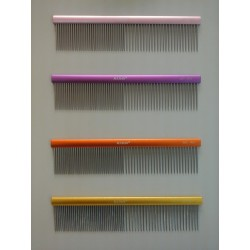 Madan Shiny Grooming comb, Matted Pink, 190mm